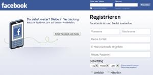 Die facebook Startseite